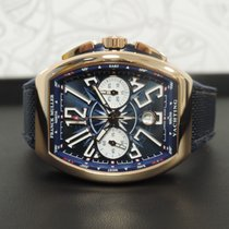 Franck Muller Red gold Automatic Blue Arabic numerals 53,7mm new Vanguard
