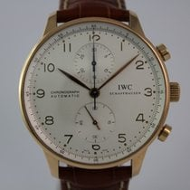IWC Portugieser Chronograph 3714 18k Rosé -Gold #A3378 Box, Top