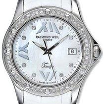 Raymond Weil Tango White Dial Diamond Bezel 5590