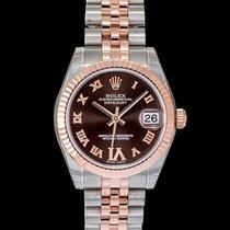 Rolex Lady-Datejust Or rose 31mm Brun