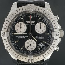 Breitling Colt Chronograph Box&Papers/2005, Steel Quartz MINT