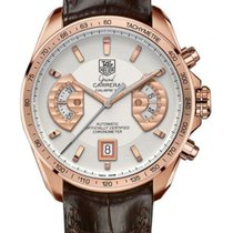 TAG Heuer Grand Carrera Rose gold 43mm Silver
