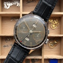 Angelus Chronograph 38mm Handaufzug 1940 gebraucht Schwarz