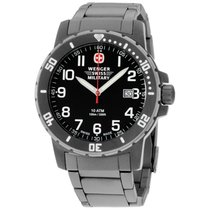 Wenger Off Road Black Dial Titanium Men's Watch 011341208s