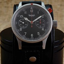 Hanhart Chronograph 40mm Manual winding pre-owned Primus Black