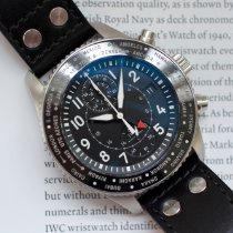IWC Pilot Chronograph Steel 45mm Black Arabic numerals