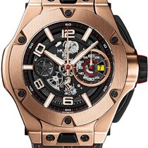 Hublot Big Bang Ferrari Oro rosa 45mm Transparente Arábigos