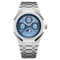 Audemars Piguet Royal Oak Perpetual Calendar Platyna 41mm Niebieski Arabskie