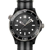 Omega Ceramic Automatic Black 43.5mm new Seamaster Diver 300 M