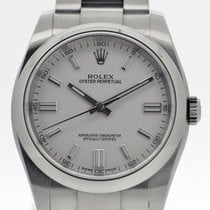 Rolex Oyster Perpetual 36 Acero 36mm Blanco
