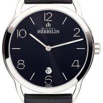 Michel Herbelin Steel Quartz Black Arabic numerals 29.5mm new