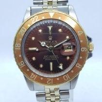 Rolex GMT-Master Or/Acier 40mm Brun Sans chiffres