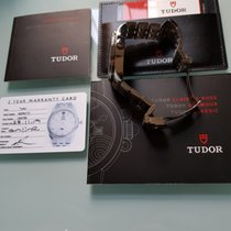 Tudor Glamour Double Date gebraucht Silber Datum Stahl