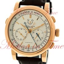 A. Lange & Söhne Double Split Rose gold 43mm Silver No numerals United States of America, New York, New York
