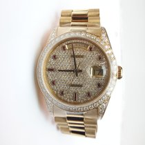 Rolex Oyster Day-Date Diamond Dial with Ruby Markers - 18388