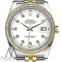 Rolex Lady-Datejust Gold/Stahl 31mm Weiß