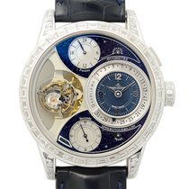 Jaeger-LeCoultre Duometre White Gold Blue Manual Wind Q6053406