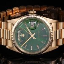 Rolex 1803 YG Day-Date President w/ Green Stick