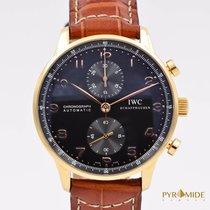 IWC Portuguese Chronograph Rose Gold Black Full Set