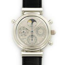 IWC Platinum Da Vinci Perpetual Calendar Split Chrono Watch...
