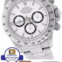 Rolex Daytona Cosmograph Zenith White 40mm 16520 A Stainless