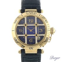 Cartier Pasha Yellow gold 38mm Blue Arabic numerals