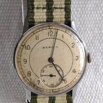 Zenith 34mm Corda manual 1950 usado Champanhe
