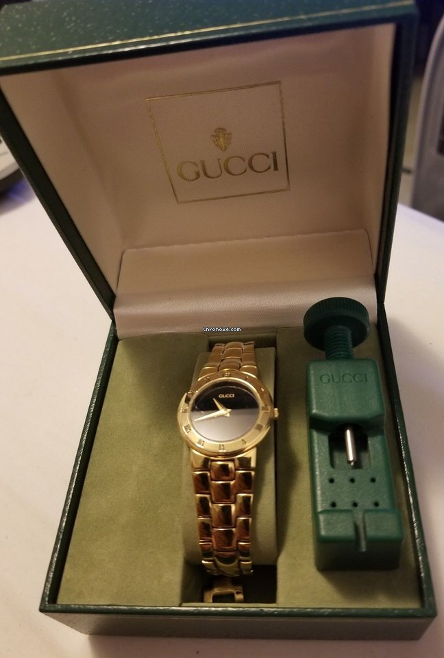 Gucci Vintage Gucci 3300.2.l 18k Gold Plated Ladies Quartz... for $450 for  sale from a Trusted Seller on Chrono24