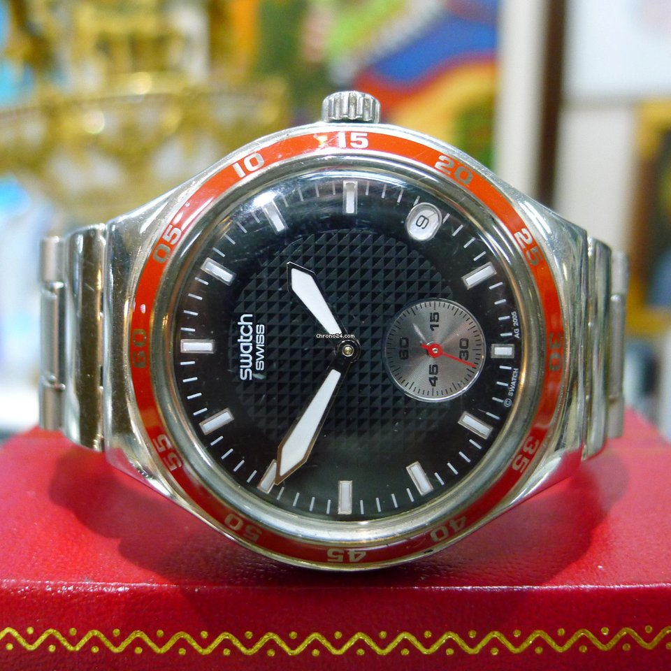Swatch Irony Stainless Steel With Date V8 Black Dial Watch για πώληση με  Τιμή κατόπιν αιτήματος από Seller της Chrono24 c544ff901ee