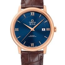 Omega Red gold Automatic Blue new De Ville Prestige