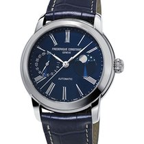 Frederique Constant Manufacture Classic Moonphase Staal 42mm Blauw Romeins Nederland, Den Haag