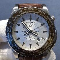 Vogard Stål 43mm Automatisk VOGARD TimeZONER Bogey Golfer ny