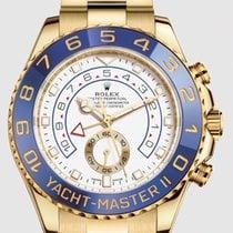 롤렉스 요트-마스터 II 옐로우골드 44mm 흰색 숫자없음