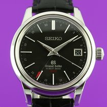 Seiko Grand Seiko Staal 39.5mm Zwart
