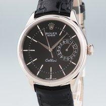 Rolex Cellini Date Λευκόχρυσος 39mm Μαύρο