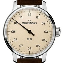 Meistersinger Steel 43mm Manual winding N° 01 new
