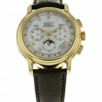 Zenith El Primero Chronomaster pre-owned 40mm Moon phase Chronograph Yellow gold