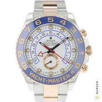 Rolex Yacht-Master II Золото/Cталь 44mm Белый Aрабские