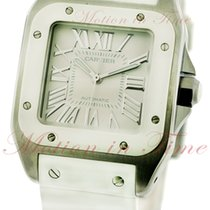 Cartier Santos 100 Steel 44.2mm Silver Roman numerals United States of America, New York, New York