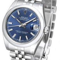Rolex Lady-Datejust Acier 31mm Bleu Sans chiffres