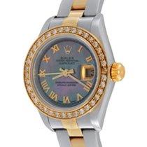 Rolex Oyster Perpetual Lady Date Acier 25mm Nacre Romains