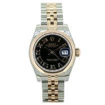Rolex Lady Datejust 179161 Black Roman Dial 26mm