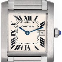 Cartier Tank Francaise Midsize Stainless Steel Watch W51011Q3