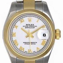 Rolex 2-Tone Ladies Datejust Watch Gold Roman Numerals 179163