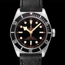 Tudor Heritage Black Bay Black Steel/Leather 41mm - 79230N