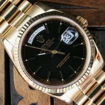 Rolex Day-Date Yellow Gold Black Dial