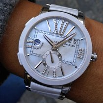 Ulysse Nardin Executive Dual Time Lady Ceramic 40mm Mother of pearl