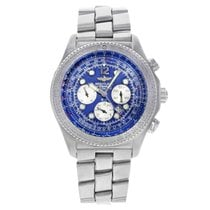 Breitling B-2 A42362 Blue Dial Steel Automatic Mens Watch -...