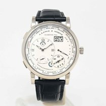 A. Lange & Söhne White gold Manual winding Silver Roman numerals 41.9mm pre-owned Lange 1