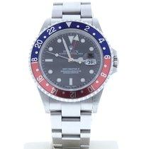 Rolex 16710 GMT Master II 40mm Stainless Steel Watch Black...